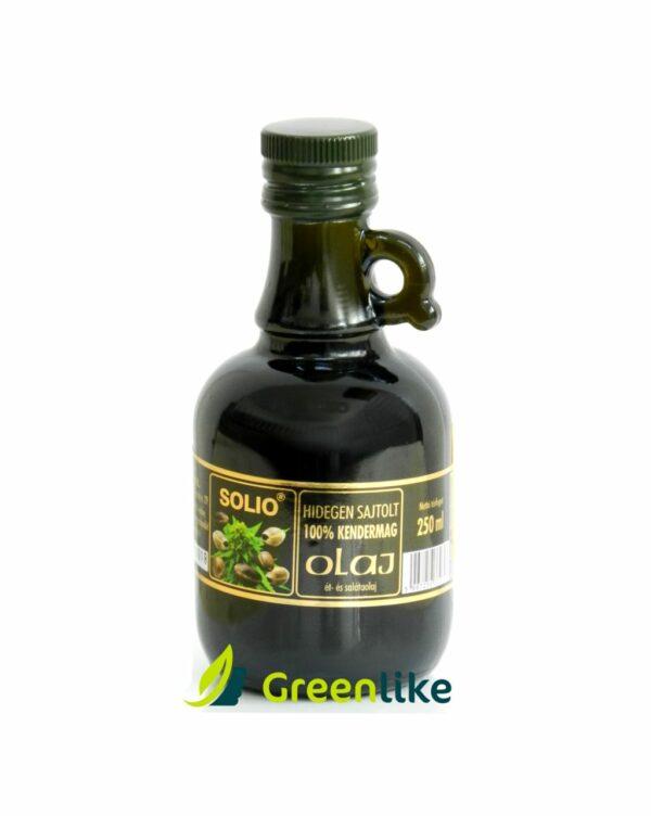 konopný olej za studena lisovaný zo semien z konope siatej
