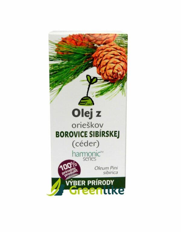 cédrový olej z orieškov borovice sibírskej