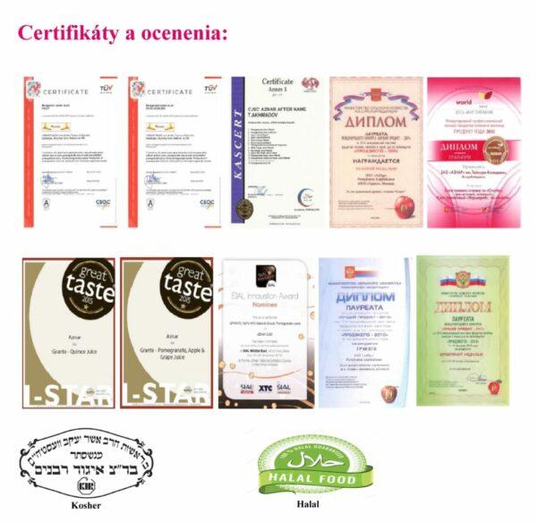 certifikáty ocenenia kontrolné certifikáty grante štava